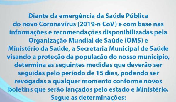 Imagens da Medidas de Proteção contra o Novo Coronavírus (Covid-19)