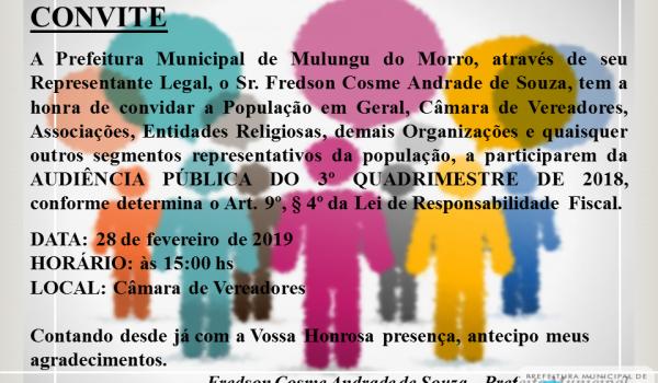 4º Audiência Pública de Mulungu do Morro