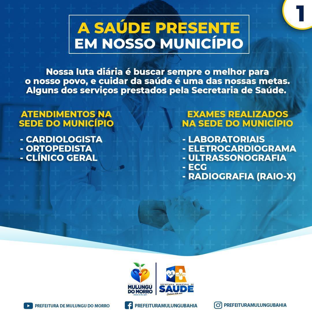 ATENDIMENTOS REALIZADOS PELA SECRETARIA DE SAÚDE