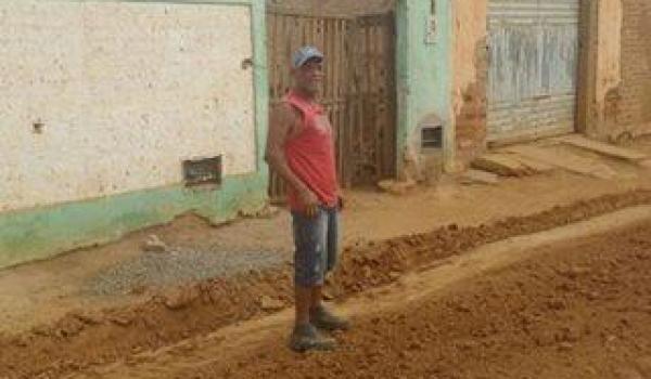 Início dos trabalhos de Pavimentação da Rua José de Souza Nogueira