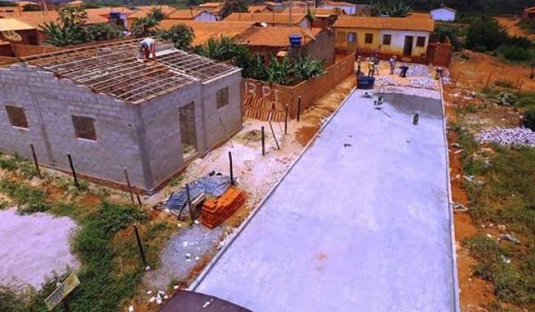 Imagens da Pavimentação no Bairro da Portelinha