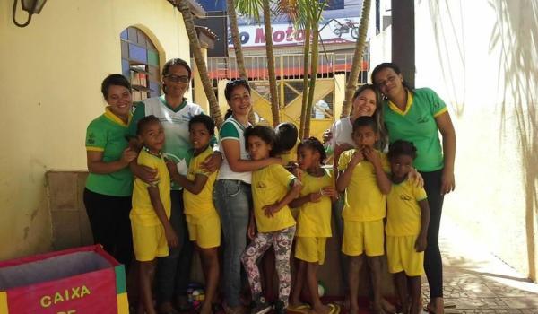 visita de membros da Pastoral da Criança